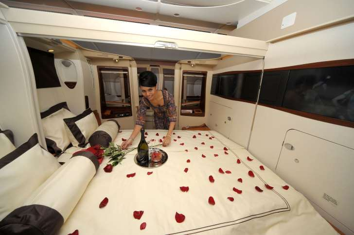 First Class Airplane Cabins That Are Basically Hotel Rooms